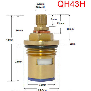 Disc (15 MM),Tap Internal Fitting (Completely made of Brass)