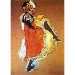 The Museum Outlet - Jane Avril Dancing by Toulouse-Lautrec - Poster Print Online Buy (24 X 32 Inch)