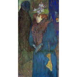The Museum Outlet - Jane Avril entering in the Moulin Rouge by Toulouse-Lautrec - Poster Print Online Buy (24 X 32 Inch)