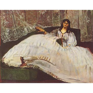 The Museum Outlet - Lady with fan by Manet - Poster Print Online Buy (24 X 32 Inch)
