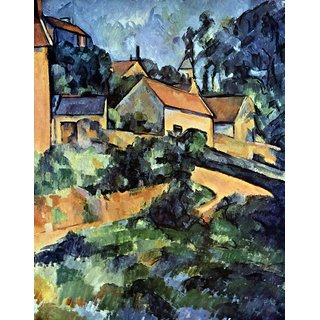 The Museum Outlet - Road curve in Montgeroult by Cezanne - Poster Print Online Buy (24 X 32 Inch)