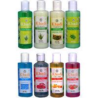 Khadi 1 Aloevera, 1 Neem Shampoo And 1 Aloevera, 1 Green Tea Conditioner And 1 Aqua Cool, 1 Rose Water, 1 Lemon  Honey, 1 Strawberry Face Wash Combo