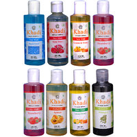 Khadi 1 Aqua Cool, 1 Rose Water, 1 Lemon  Honey, 2 Strawberry Face Wash And 1 Apricot, 1 Bhringraj Oil And 1  Lemon  Honey Body Wash Combo