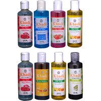Khadi 2 Rose Water, 1 Strawberry Face Wash And, 1 Aqua Cool, 2 Lemon  Honey Body Wash And 1 Haney  Almond Shampoo And 1 Bhringraj Oil  Combo