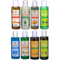 Khadi 1 Lemon  Honey, 1 Aqua Cool, 1 Neem Turmetic Face Wash And 1 Aloevere Conditioner And 1 Apricot Oil And 1 Haney  Almond, 1 Amla Reetha, 1 Neem Reetha  Shampoo Combo