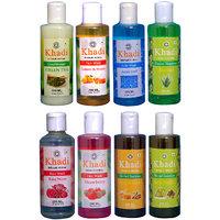 Khadi 1 Green Tea Conditioner And 1 Lemon  Honey, 1 Rose Water, 1 Strawberry Face Wash And 1 Aqua Cool Body Wash And 1 Aloevere, 1 Haney  Almond, 1 Amla Reetha Shampoo  Combo