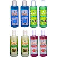 Khadi 2 Aqua Cool Body Wash  And 2 Neema Reetha  Shampoo And 2 Green Tea  Conditioner And 2 Strawberry Face  Wash Combo