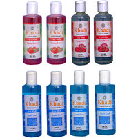 Khadi 2 Strawberry  2 Rose Water 2 Aqua Cool Face Wash And 2 Aqua Cool Body Wash Combo