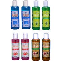 Khadi 2 Aqua Cool Body Wash And 2 Strawberry Face Wash And 2 Aloever 2 Suffer Reetha Protein  Combo
