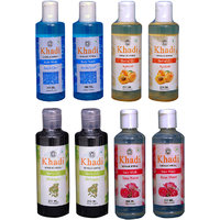 Khadi 2 Aqua Cool Body Wash And 2 Apricot  2 Bhringraj Oil And 2 Rose Water Face Wash  Combo