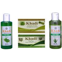 Khadi 1 Neen Body Wash And 1 Lemon Grass 1 Tea Tree Soap And 1 Aleovera Body Wash  Combo