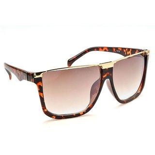 470b79b5304 Stacle Distinctive Gold Browline Rectangular Unisex Sunglasses (Havana  Brown .