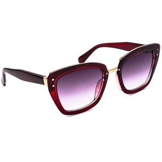 fe0d86070be Buy Stacle Designer Squared Cat-eye Women s Sunglasses (Maroon Frame)  (ST15101) Online - Get 71% Off