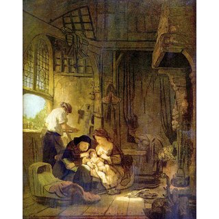 The Museum Outlet - The Holy Family 1 by Rembrandt - Poster Print Online Buy (24 X 32 Inch)