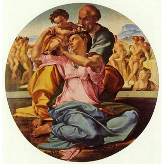 The Museum Outlet - The Holy Family by Michelangelo - Poster Print Online Buy (24 X 32 Inch)