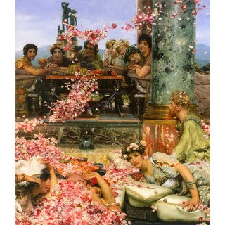 The Museum Outlet - The roses of Heliogabalus detail 2 by Alma-Tadema - Poster Print Online Buy (24 X 32 Inch)