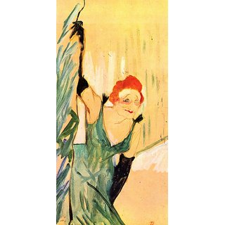 The Museum Outlet - Yvette Guilbert greets the Audience by Toulouse-Lautrec - Poster Print Online Buy (24 X 32 Inch)