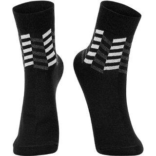 DUKK Men's Geometric Print Grey Glean Length Socks