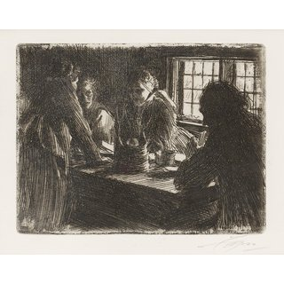 The Museum Outlet - Anders Zorn - The Bridesmaid (etching) 1905 - Poster Print Online Buy (24 X 32 Inch)