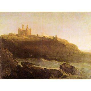 The Museum Outlet - Dunstanborough Castle by Joseph Mallord Turner - Poster Print Online Buy (24 X 32 Inch)