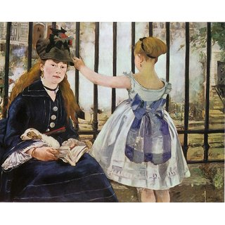 The Museum Outlet - LeChemindefer1873 by Manet - Poster Print Online Buy (24 X 32 Inch)
