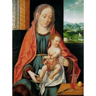 The Museum Outlet - Madonna and Child (about 1530) - Poster Print Online Buy (30 X 40 Inch)