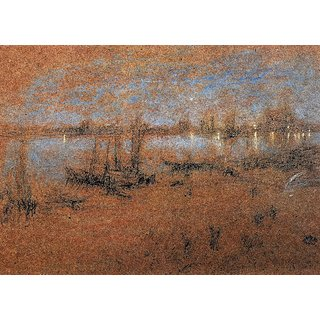The Museum Outlet - Nocturne, The Riva by Whistler - Poster Print Online Buy (24 X 32 Inch)