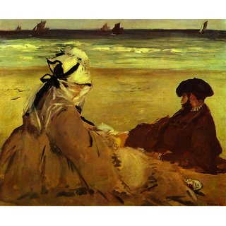 The Museum Outlet - On the beach by Edouard Manet - Poster Print Online Buy (24 X 32 Inch)