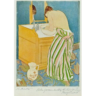 The Museum Outlet - The Toillette by Cassatt - Poster Print Online Buy (24 X 32 Inch)