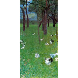 The Museum Outlet - After the rain (garden with chickens in St. Agatha) by Klimt - Poster Print Online Buy (24 X 32 Inch)