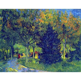 The Museum Outlet - Allee in the Park by Van Gogh - Poster Print Online Buy (24 X 32 Inch)