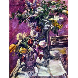 The Museum Outlet - Lilac and tulips by Corinth - Poster Print Online Buy (24 X 32 Inch)
