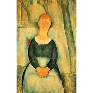 The Museum Outlet - Modigliani - The beautiful merchant - Poster Print Online Buy (24 X 32 Inch)