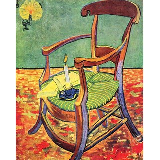 The Museum Outlet - Paul Gauguin's chair by Van Gogh - Poster Print Online Buy (24 X 32 Inch)
