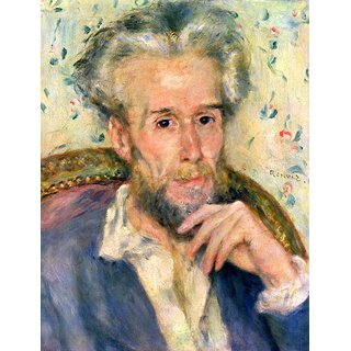 The Museum Outlet - Portrait of a man by Renoir - Poster Print Online Buy (24 X 32 Inch)