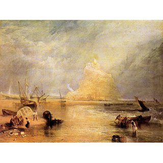 The Museum Outlet - St. Michaels Mount, Cornwall by Joseph Mallord Turner - Poster Print Online Buy (24 X 32 Inch)