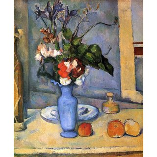 The Museum Outlet - Still Life with Blue vase by Cezanne - Poster Print Online Buy (24 X 32 Inch)