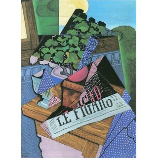The Museum Outlet - Still Life with geraniums by Juan Gris - Poster Print Online Buy (24 X 32 Inch)