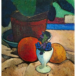 The Museum Outlet - Still Life with lemon, orange and tomato by Paula-Modersohn-Becker - Poster Print Online Buy (24 X 32 Inch)
