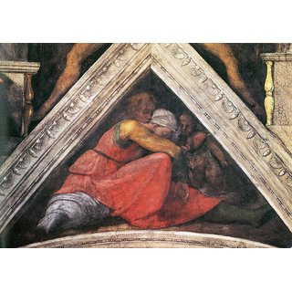 The Museum Outlet - The ancestors of Christ - Family of King Asa by Michelangelo - Poster Print Online Buy (24 X 32 Inch)