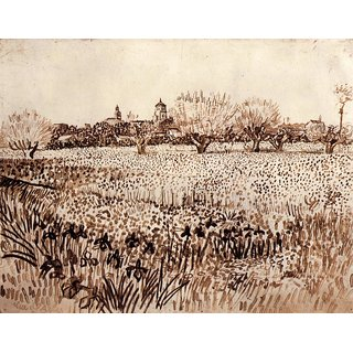 The Museum Outlet - View of Arles by Van Gogh - Poster Print Online Buy (24 X 32 Inch)