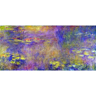 The Museum Outlet - Water Lilies - (Yellow nirvana) by Monet - Poster Print Online Buy (24 X 32 Inch)