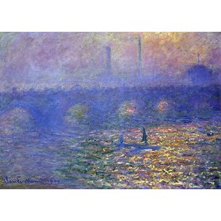The Museum Outlet - Waterloo Bridge by Monet - Poster Print Online Buy (24 X 32 Inch)