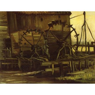 The Museum Outlet - Waterwheels by Van Gogh - Poster Print Online Buy (24 X 32 Inch)