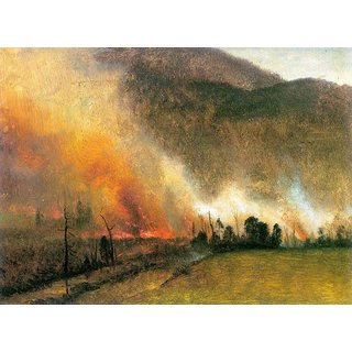 The Museum Outlet - White Mountains, New hampshire 1 by Bierstadt - Poster Print Online Buy (24 X 32 Inch)