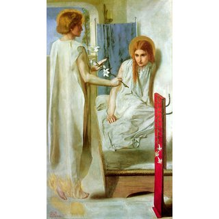 The Museum Outlet - Ecce Ancilla Domini!, 1850 - Poster Print Online Buy (24 X 32 Inch)