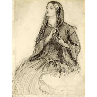 The Museum Outlet - Elizabeth Siddall Plaiting her Hair, ca1860 - Poster Print Online Buy (24 X 32 Inch)