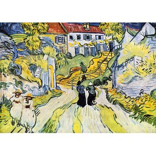 The Museum Outlet - Street and road in Auver by Van Gogh - Poster Print Online Buy (24 X 32 Inch)