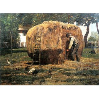 The Museum Outlet - The Barnyard by Hassam - Poster Print Online Buy (24 X 32 Inch)