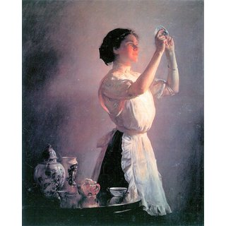 The Museum Outlet - The blue cup by Joseph DeCamp - Poster Print Online Buy (24 X 32 Inch)